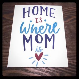8 x 10 Thin Sign. Home Is Where Mom Is!
